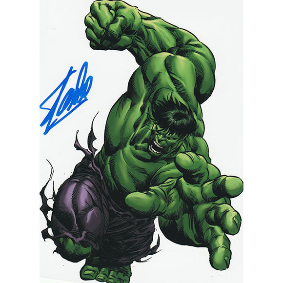Stan Lee Autographed 8X10 Photo (Hulk)