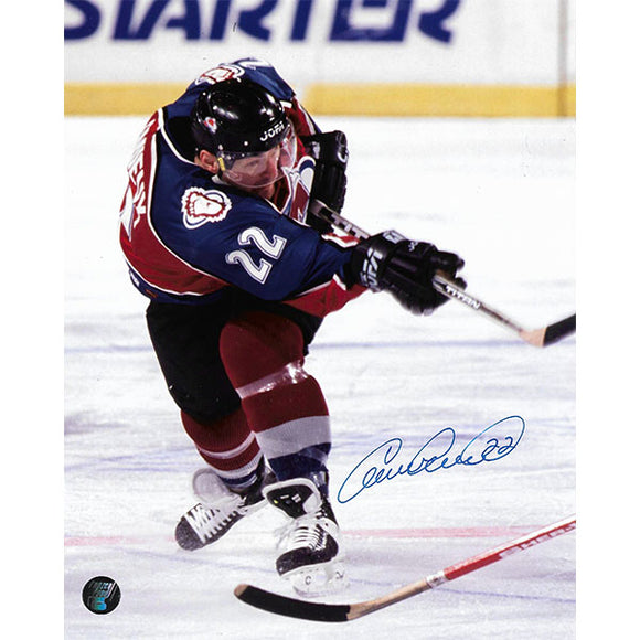 Claude Lemieux Autographed Colorado Avalanche 8X10 Photo (Shooting)
