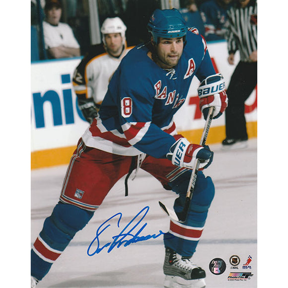Eric Lindros Autographed New York Rangers 8X10 Photo