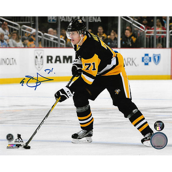 Evgeni Malkin Autographed Pittsburgh Penguins 8X10 Photo (Horizontal)
