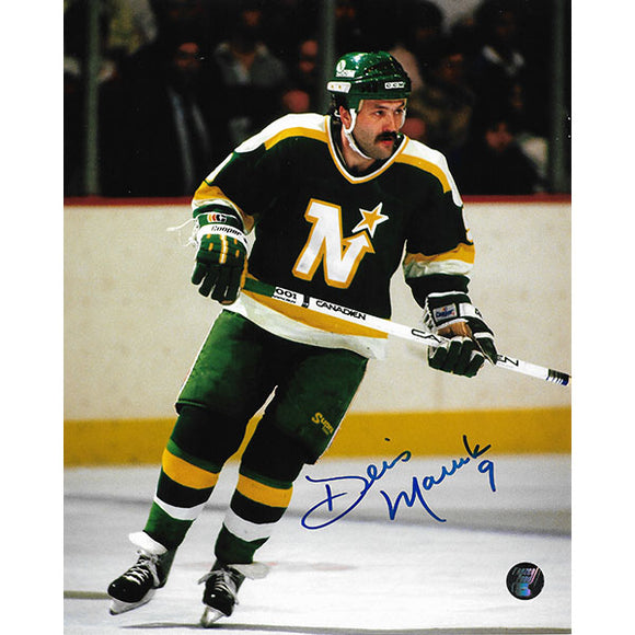 Dennis Maruk Autographed Minnesota North Stars 8X10 Photo
