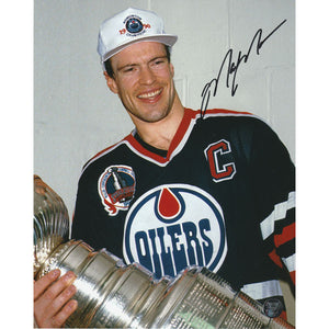 Mark Messier Autographed Edmonton Oilers 8X10 Photo (1990 Cup)