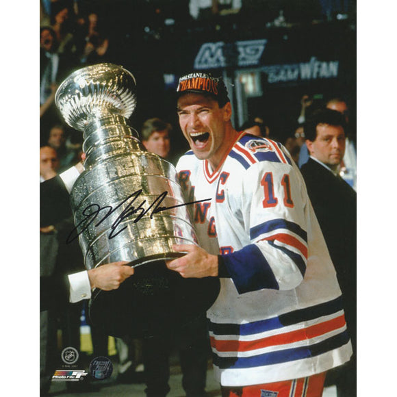 Mark Messier Autographed New York Rangers 8X10 Photo (1994 Cup)