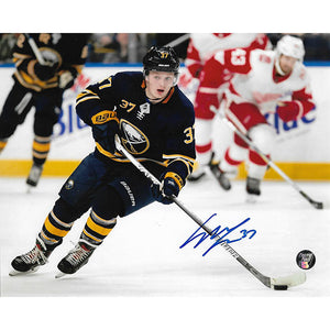Casey Mittelstadt Autographed Buffalo Sabres 8X10 Photo