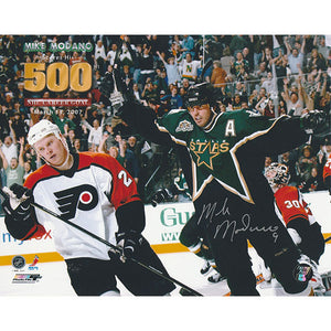 Mike Modano Autographed Dallas Stars 8X10 Photo (500th Goal)