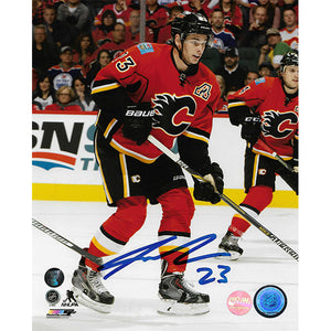 Sean Monahan Autographed Calgary Flames 8X10 Photo