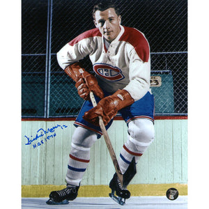 Dickie Moore (deceased) Autographed Montreal Canadiens 8X10 Photo