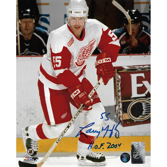 Larry Murphy Autographed Detroit Red Wings 8X10 Photo