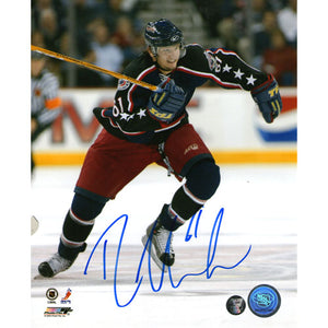 Rick Nash Autographed Columbus Blue Jackets 8X10 Photo