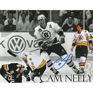 Cam Neely Autographed Boston Bruins 8X10 Photo (Collage)