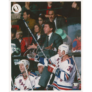 Roger Neilson (deceased) Autographed New York Rangers 8X10 Photo (Photo 2)