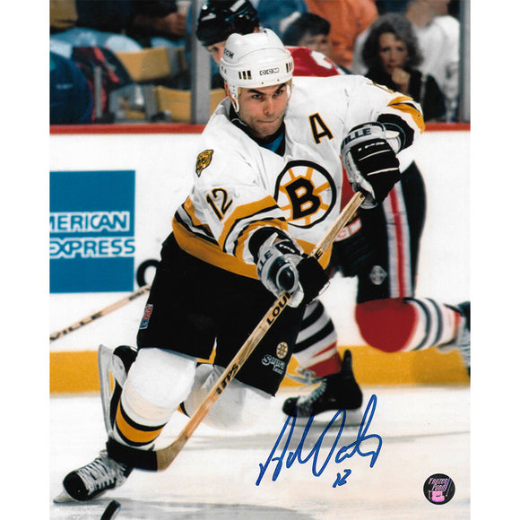 Adam Oates Autographed Boston Bruins 8X10 Photo