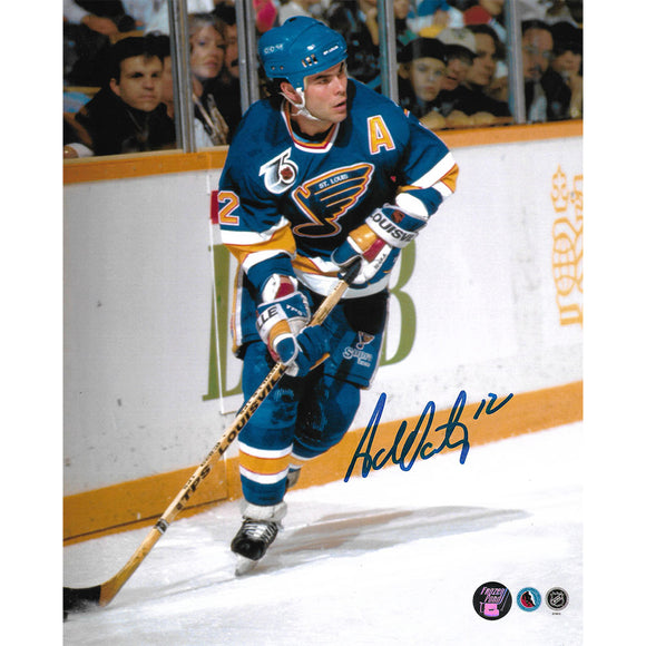 Adam Oates Autographed St. Louis Blues 8X10 Photo