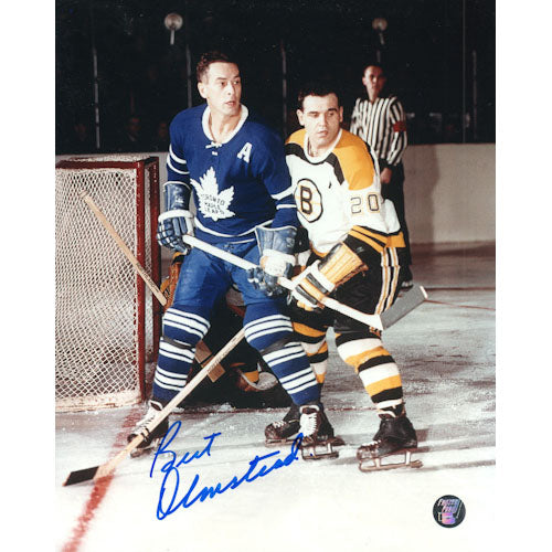 Bert Olmstead (deceased) Autographed Toronto Maple Leafs 8X10 Photo