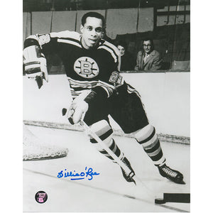 Willie O'Ree Autographed Boston Bruins 8X10 Photo