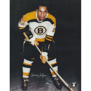 Willie O'Ree Autographed Boston Bruins 8X10 Photo (Photo 2)