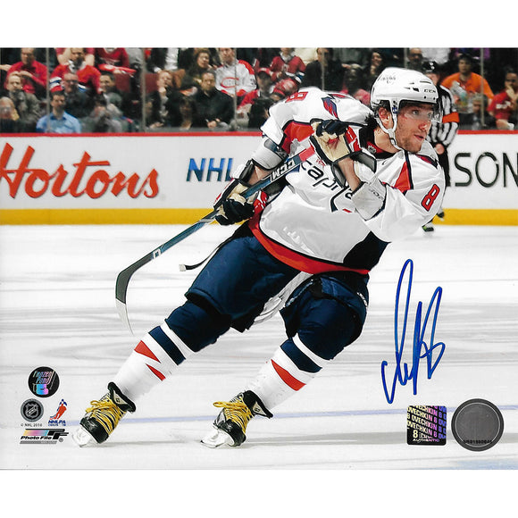 Alex Ovechkin Autographed Washington Capitals 8X10 Photo (White Jersey)