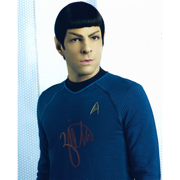Zachary Quinto Autographed Star Trek 8X10 Photo (Close-Up)