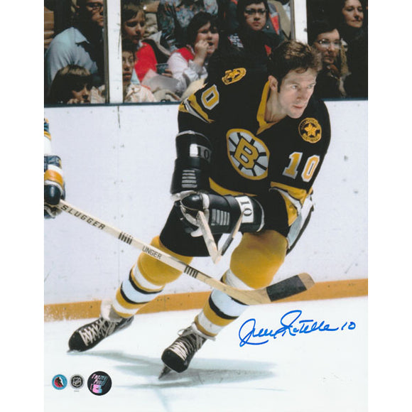 Jean Ratelle Autographed Boston Bruins 8X10 Photo