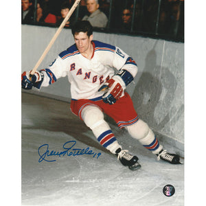 Jean Ratelle Autographed New York Rangers 8X10 Photo