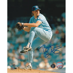Bret Saberhagen Autographed Kansas City Royals 8X10 Photo