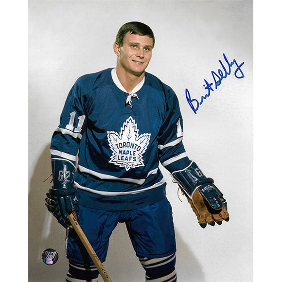 Brit Selby Autographed Toronto Maple Leafs 8X10 Photo