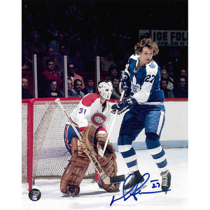 Darryl Sittler Autographed Toronto Maple Leafs 8X10 Photo (vs. Montreal)