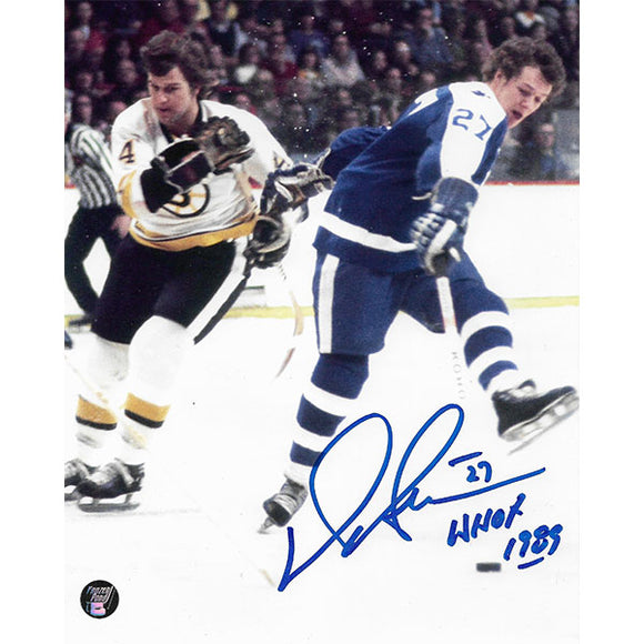 Darryl Sittler Autographed Toronto Maple Leafs 8X10 Photo (w/Orr)