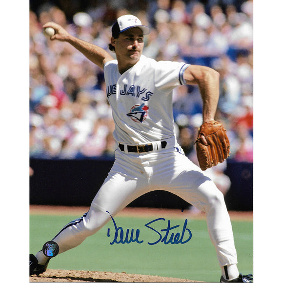 Dave Stieb Autographed Toronto Blue Jays 8X10 Photo (Vertical)
