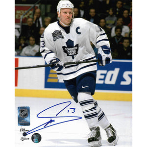 Mats Sundin Autographed Toronto Maple Leafs 8X10 Photo (MLG Patch)