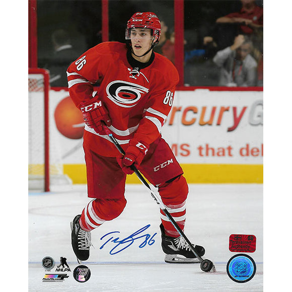 Teuvo Teravainen Autographed Carolina Hurricanes 8X10 Photo