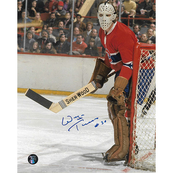 Wayne Thomas Autographed Montreal Canadiens 8X10 Photo (Red Jersey)