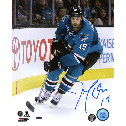 Joe Thornton Autographed San Jose Sharks 8X10 Photo (Boards)