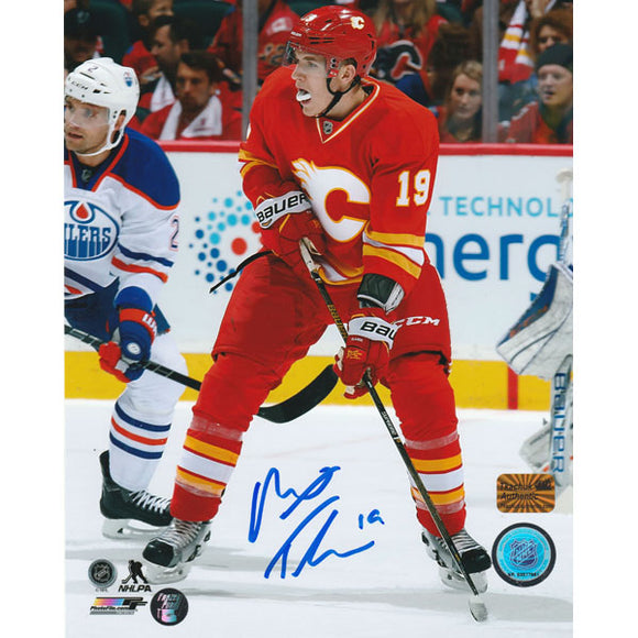 Matthew Tkachuk Autographed Calgary Flames 8X10 Photo
