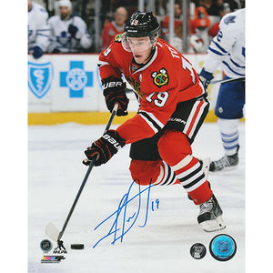 Jonathan Toews Autographed Chicago Blackhawks 8X10 Photo