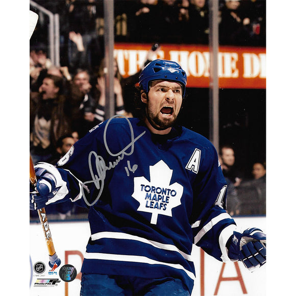 Darcy Tucker Autographed Toronto Maple Leafs 8X10 Photo (Home Depot)