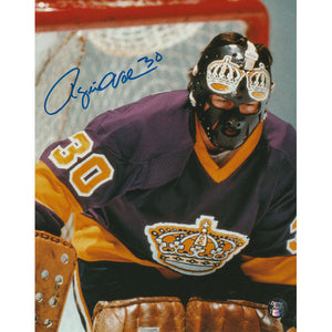 Rogie Vachon Autographed Los Angeles Kings 8X10 Photo (Close-Up)