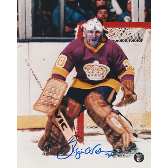 Rogie Vachon Autographed Los Angeles Kings 8X10 Photo