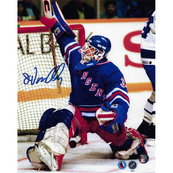 John Vanbiesbrouck Autographed New York Rangers 8X10 Photo (Save)
