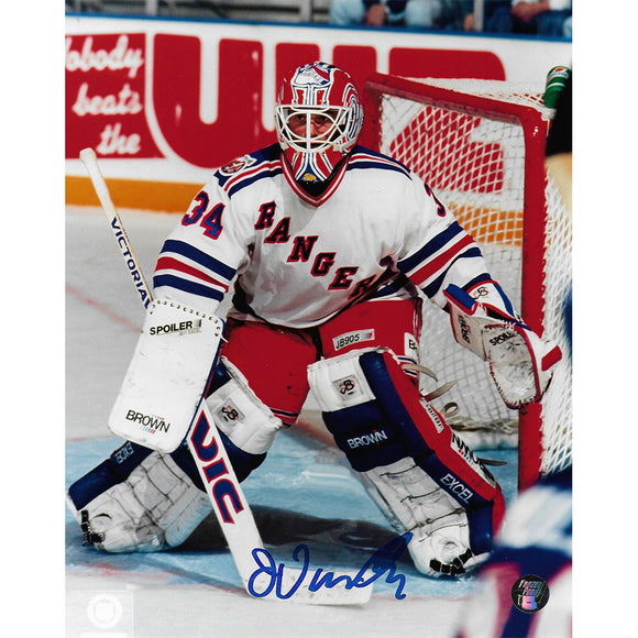 John Vanbiesbrouck Autographed New York Rangers 8X10 Photo