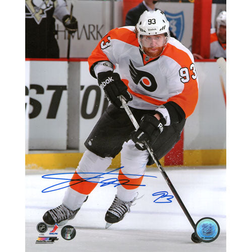 Jakub Voracek Autographed Philadelphia Flyers 8X10 Photo (White Jersey)