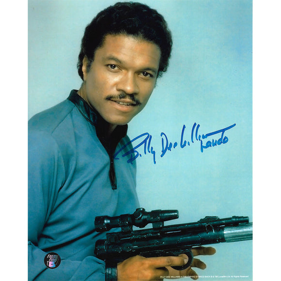 Billy Dee Williams Autographed Star Wars 8X10 Photo (w/gun)