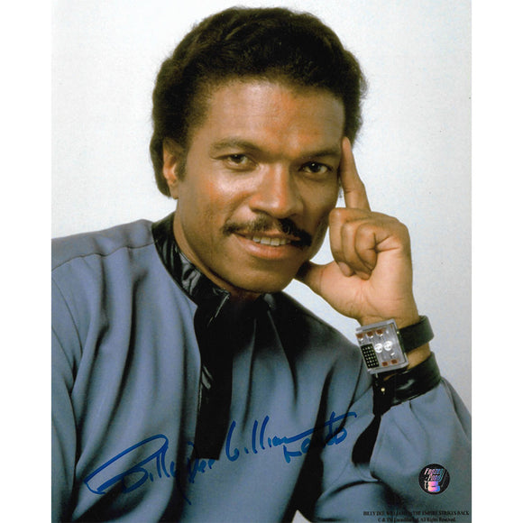 Billy Dee Williams Autographed Star Wars 8X10 Photo (w/watch)