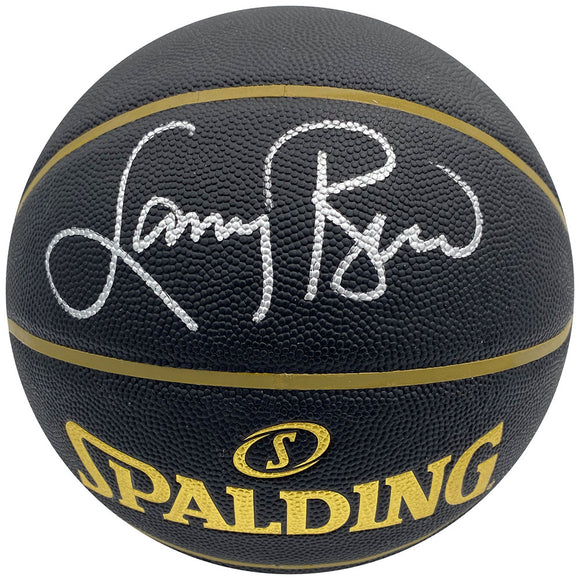 Larry Bird Autographed Spalding Elevation Black Basketball