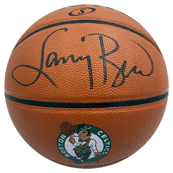 Larry Bird Autographed Boston Celtics Logo Basketball