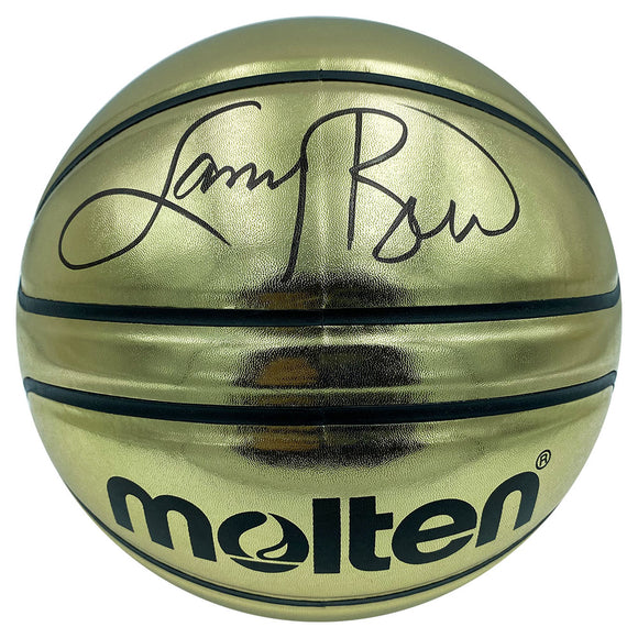 Larry Bird Autographed Molten Gold Basketball