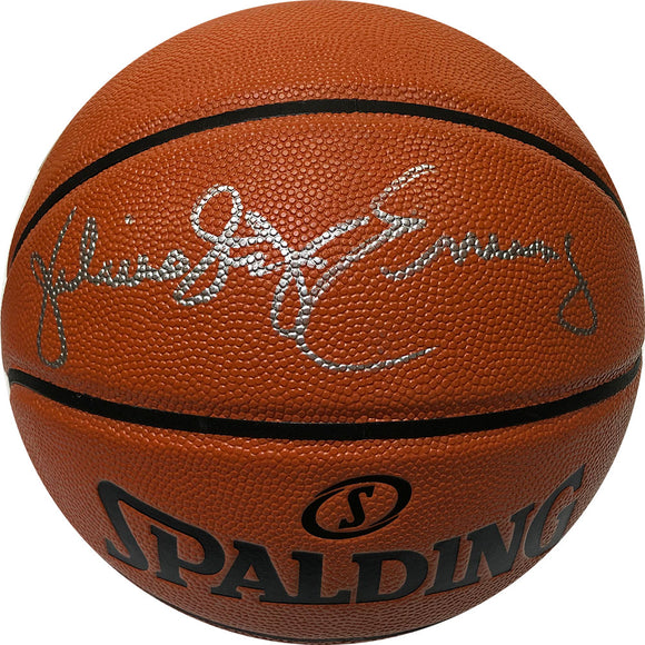 Julius Erving Autographed Spalding Basketball