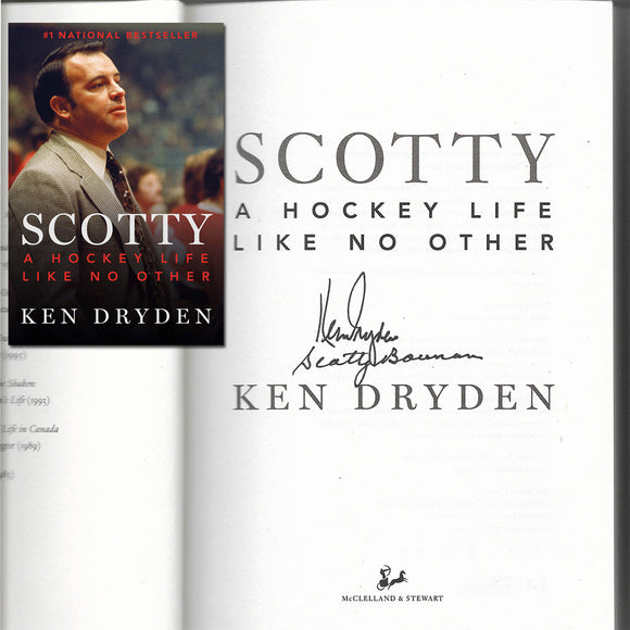 Scotty Bowman/Ken Dryden 'Scotty' Autographed Book