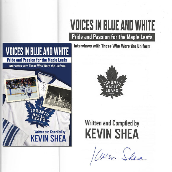 Kevin Shea 'Voices in Blue and White' Autographed Softcover Book