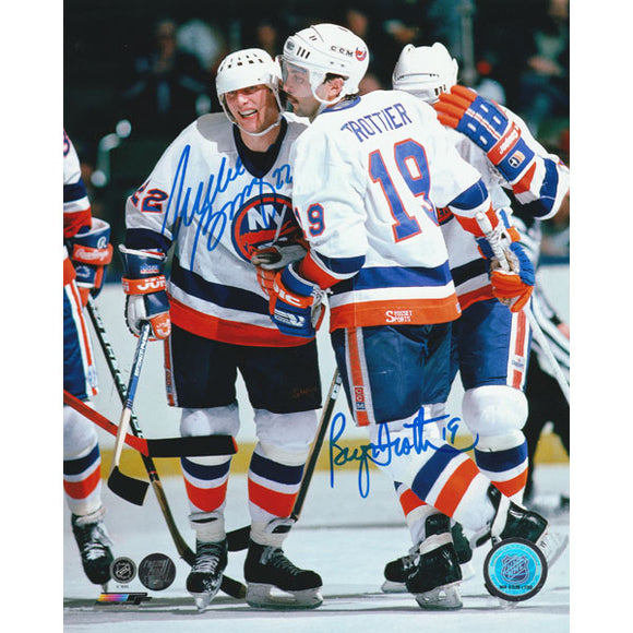 Mike Bossy/Bryan Trottier Autographed 8X10 Combo Photo